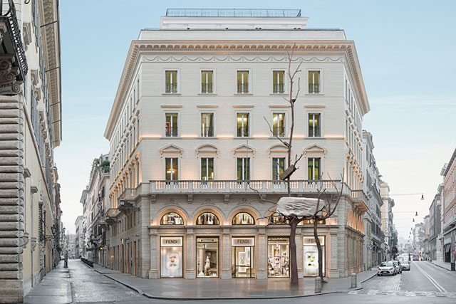 Fendi has donated a new art installation in Rome
