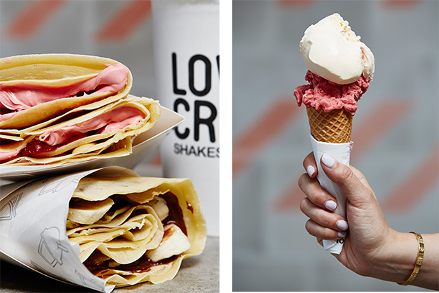 Crepes, shakes and ALL the gelato: this is sweet tooth heaven