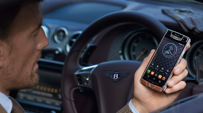 Everyday luxury: Bentley's new smartphone