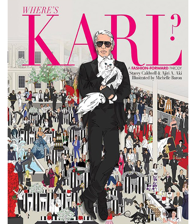 Karl Lagerfeld scores his own Where's Wally moment