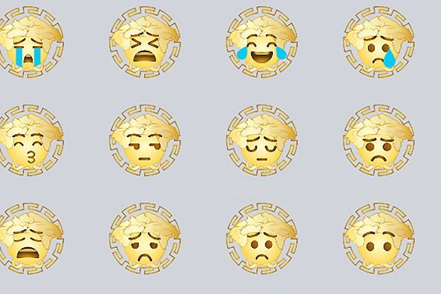 Now you can communicate in Versace emoji