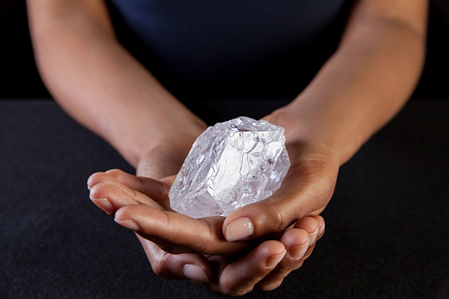 A diamond the size of a tennis ball goes to auction tomorrow