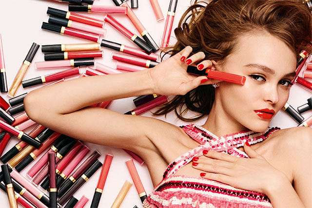Lily-Rose Depp is the new face of Chanel Rouge Coco gloss