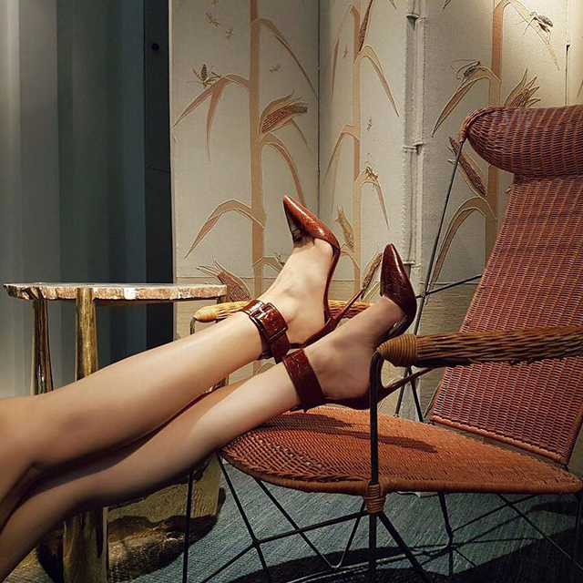 15. Christian Louboutin: red-soled heels get eyeballs, apparently.