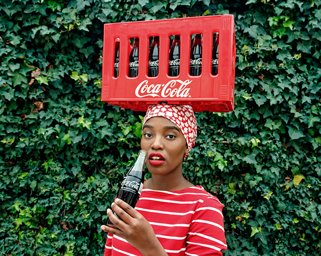 BLACK COCA-COLA SERIES - Featuring an array of projected identities that she has beautifully spliced together with the global iconic Coke brand, Gum aims to show a pathway to embracing Western brands, while remaining true and proud of one's heritage. Her imagery creates an intimate link between the brand and the 'people'.
