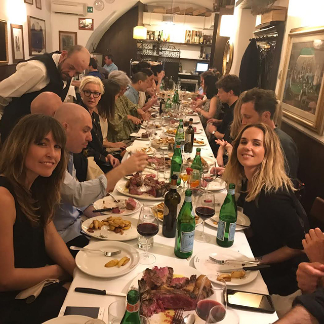 Dinner with some of the Woolmark team and fellow designers.