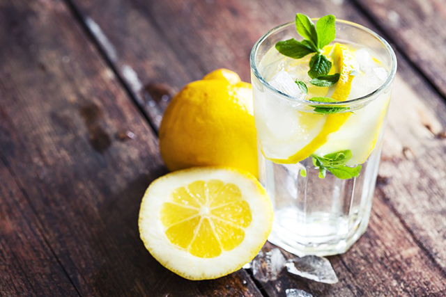 1. Lemon. The old lemon drink is always number one, it helps your body to detoxify and also the taste is amazing.