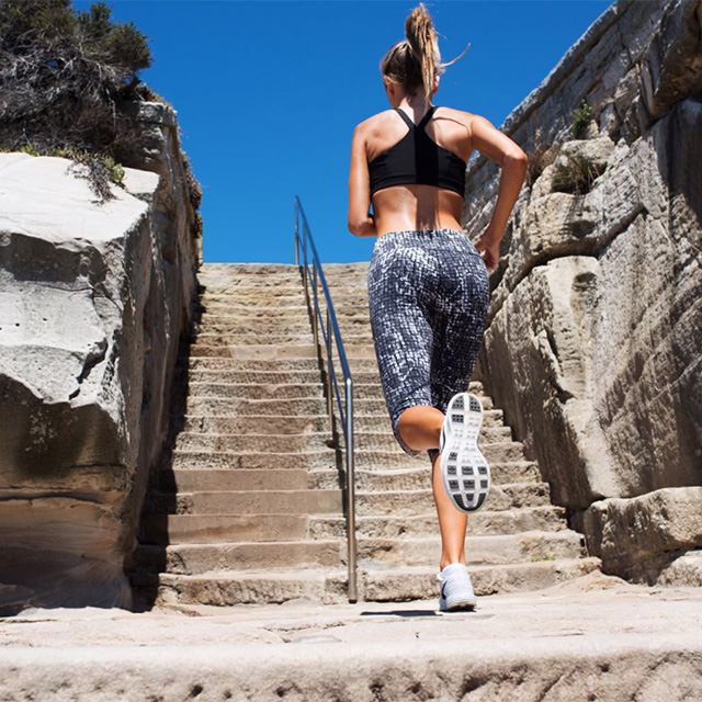 2. Walk or take the stairs whenever possible. This one is self-explanatory. It will keep your fitness levels up and the stairs will work your legs.