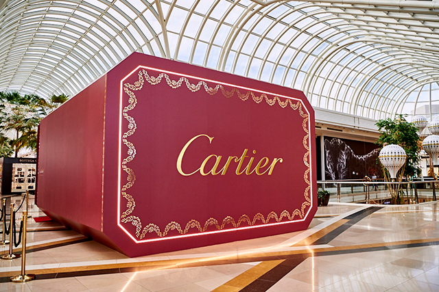 Cartier on the ground floor at Chadstone