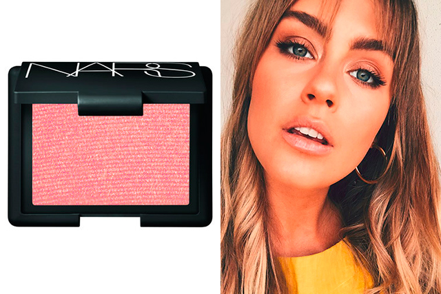 "3.	Blush: NARS Orgasm. It's a beautiful natural pink with a bit of shimmer.<p><a style=""font-size: 17px;"" href=""https://www.mecca.com.au/nars/blush/V-000376.html?cgpath=brands-nars#start=1"">mecca.com.au</a></p>