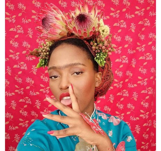 FREE DA GUM - Tony Gum's series of three photographs, 'Free da Gum', is a direct allusion to the iconic image of the Mexican artist, Frida Kahlo.