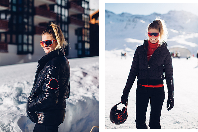 "Top dressing tips/must-have items for on and off the slopes? Constance Jablonksi:  ""Layering is key because the weather is so changeable in the mountains. You need to be able to add or remove layers when necessary. For those with bad circulation I always recommend hand warmers and wearing mittens instead of gloves."""