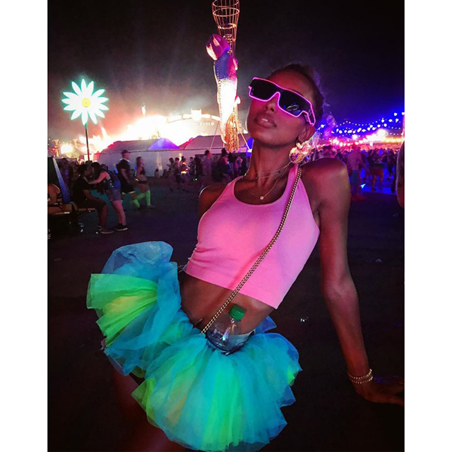 5.	Cosmic Harajuku. Angel wings, neon platforms and enough body glitter to choke a unicorn. Add an ever-present lollipop and maybe some face paint and you're good to go. To the rave tent.