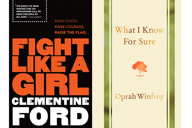 "Reading: ""I'm reading a few books at the moment, but 2 of them that I'm really enjoying are 'Fight Like a Girl' by Clementine Ford & 'What I Know for Sure' by Oprah Winfrey."""