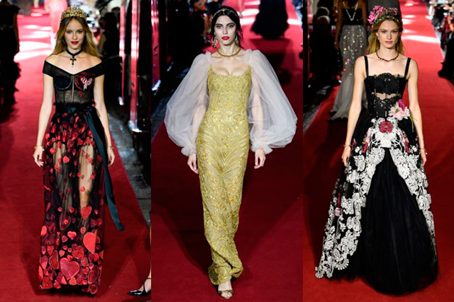 "Consisting of only evening dresses, the show was an intimate, couture-esque presentation modelled by friends of the house. ""We have pre-, cruise, main, evening, and it's impossible to show everything in one show,"" explained Stefano Gabbana to Vogue.com as to why an eveningwear special was so necessary for the brand."
