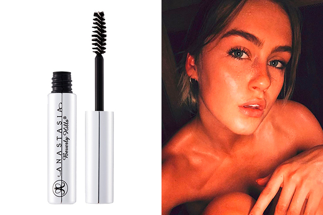 "7.	Brows: Anastasia Beverly Hills Clear Brow Gel. It keeps my caterpillars in line.<p><a style=""font-size: 17px;"" href=""https://www.sephora.com.au/products/anastasia-brow-gel-clear"">sephora.com.au</a></p>