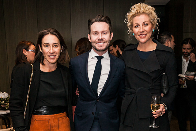 Vogue Australia's editor Edwina McCann, News Life Media Publisher Nick Smith and Delicious editor Kerrie McCallum