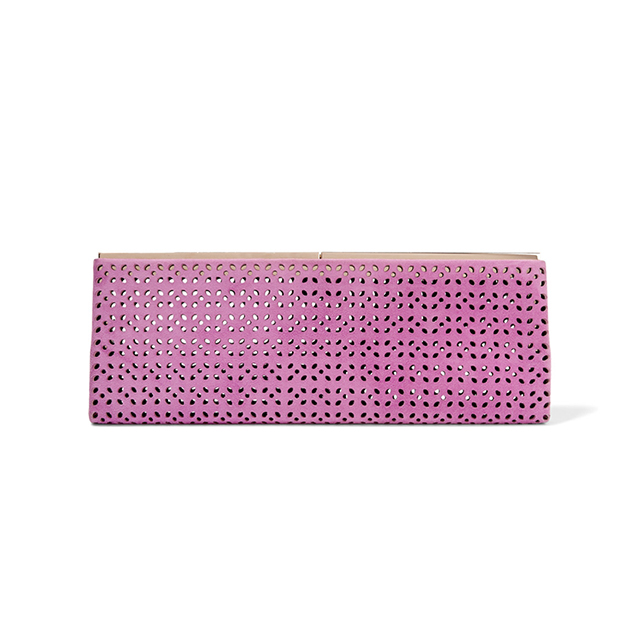 "Jimmy Choo clutch. Perfect for Oaks Day - wear with Erdem dress<p><a href=""https://www.theoutnet.com/en-AU/Shop/Product/Jimmy-Choo/Ciggy-laser-cut-suede-clutch/788958"" target=""_blank"">theoutnet.com/en-AU</a>&nbsp;</p>"