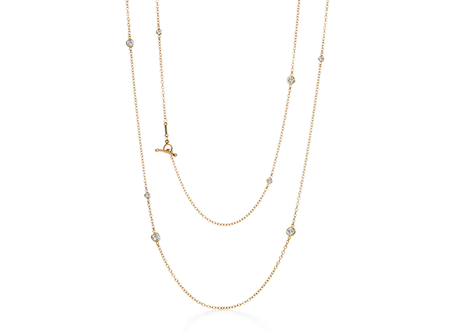 "1<p><a target=""_blank"" href=""http://87k.eu/vuud"">Elsa Peretti Diamond by the Yard Sprinkle Necklace</a></p>"
