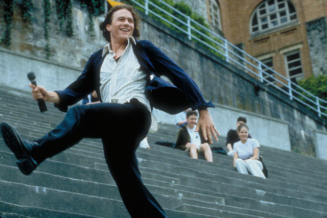 10 Things I hate About You, 1999: His scene-stealing role as Patrick Verona reached peak-babe when he serenaded Julia Stiles' Kat with 'Can't Take My Eyes Off You'. Needless to say, he got the girl.