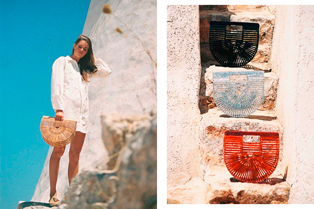 Cult Gaia. Possessing vintage vibes, the accessories Cult Gaia are known for wouldn't be lost among your mother's relics from the '70s. You've probably spotted the Gaia's Ark bag on a few Instagram influencers already...
