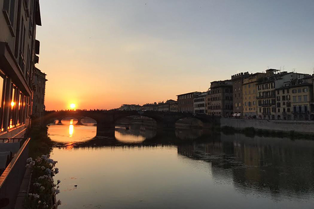 Florence sunsets are always pretty spectacular.