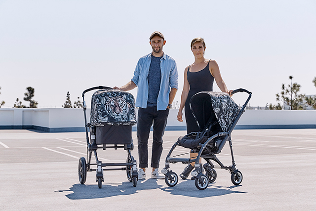 Jeremy and Katinka of We Are Handsome with the Bugaboo they designed