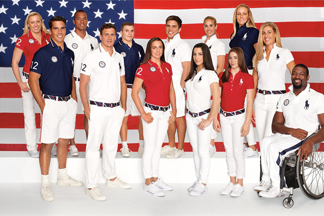 Ralph Lauren x Team USA: The Rio Olympics mark the fifth time iconic American design house Polo Ralph Lauren has kitted out Team USA with their preppy All American red, white and blues. And if you like what you see, you can purchase pieces of the kit from the Ralph Lauren website.