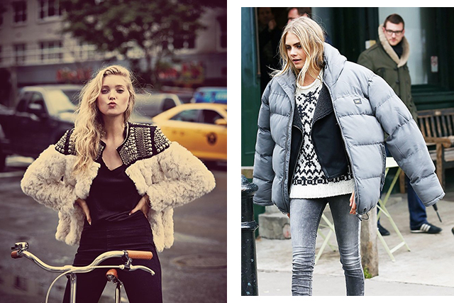 #1 Add more layers: Stay warm with clothing and heating instead of food. When we're cold our body tells us to eat some fattening food to add some internal warming layers (fat). So stay warm this winter, especially if you are out during the day, prepare for the cold change once the sun goes down. (Left image: Free People)