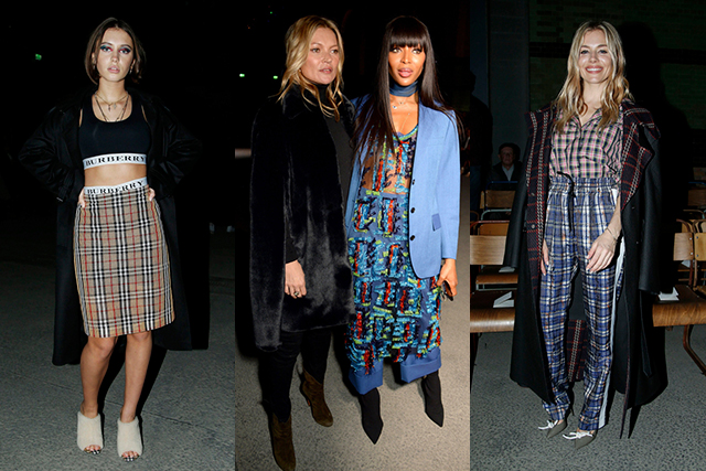 Burberry's star rating was off the richter including the following (exhaustive) list of celebrities: Kate Moss, Naomi Campbell, Keira Knightley, Zendaya Coleman, Naomi Watts, Naomie Harris, Iris Law, Lily James, Matt Smith, Jourdan Dunn, Kate Mara, Idris Elba, Domhnall Gleeson, Paris Jackson, Chelsea Clinton (!!!), Nicholas Hoult, Poppy Delevingne, Alexa Chung, Liam Gallagher, Tinie Tempah, Jamie Bell and Daphne Guinness.