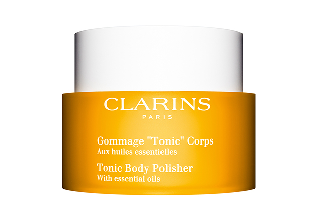 "Clarins Tonic Body Polisher, $48<p><span style=""font-size: 17px;""><a href=""http://www.clarins.com.au/?gclid=CLPQxdPE0NMCFcl_vQodjPoHnQ"" target=""_blank"">clarins.com.au</a></span></p>