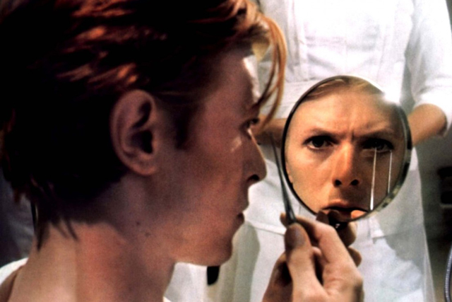 In the 1976 sci-fi classic 'The Man Who Fell to Earth' Bowie played an alien who visits earth and falls in love.
