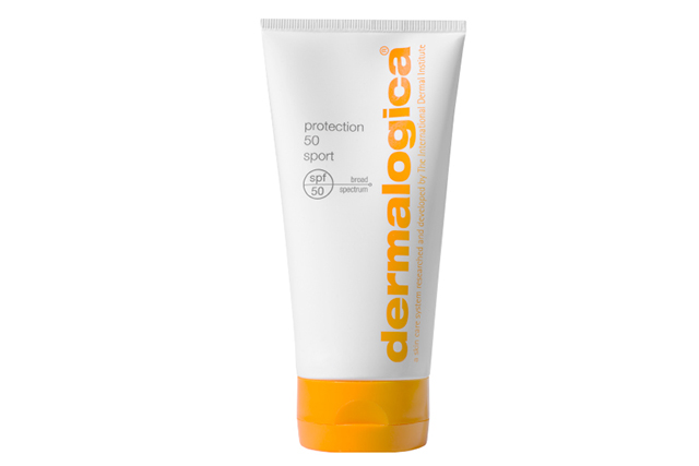 Dermalogica Protection 50 Sport SPF50: If you're planning water sports or outdoor training this is the sunscreen to apply. The lightweight, non-greasy formula incorporating their 'Oleosome Technology' works to shield skin from those burning rays. RRP $57.20.