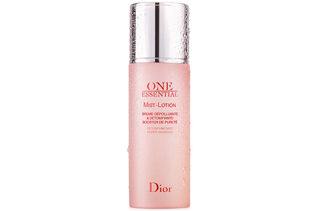 Dior One Essential Mist-Lotion, $94: designed to purify the skin thanks to a naturally occurring enzyme that recycles cell toxins, this mist-lotion removes daily grime while simultaneously boosting moisture and restoring skin's pH.