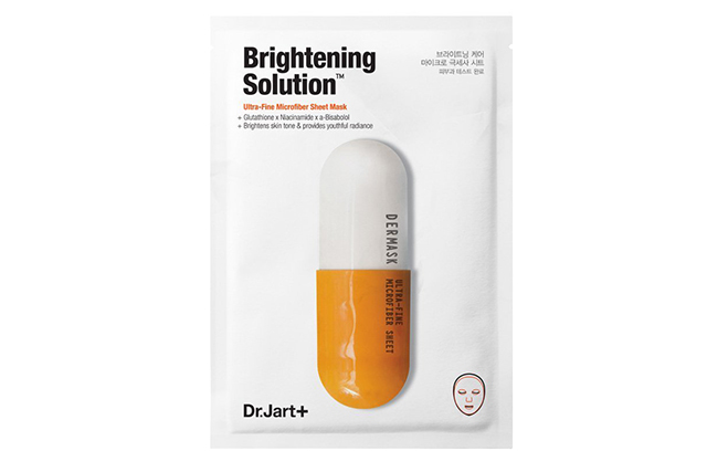"Dr Jart+ Mask Micro Jet Brightening Solution: for when you need a beauty boost after a day outside and before a night on the town.<p>$9 per mask from <a href=""https://www.sephora.com.au/products/dr-dot-jart-plus-mask-micro-jet-brightening-solution/v/1-sheet"">sephora.com.au</a>&nbsp;</p>"