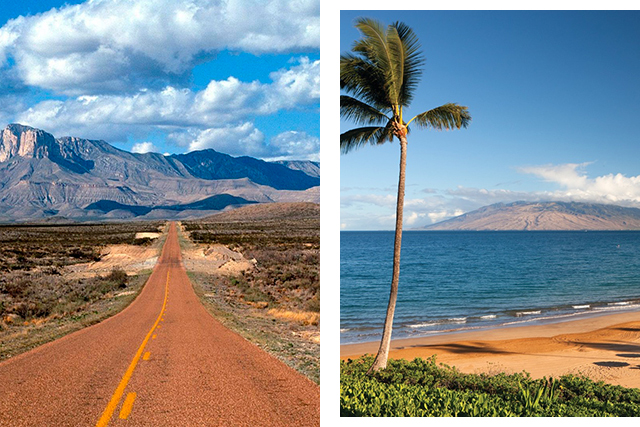 "Holiday destination: ""Going home to Texas or going to Maui. In Maui I've been renting the same house in the same place for over 10 years so it's very much home."""