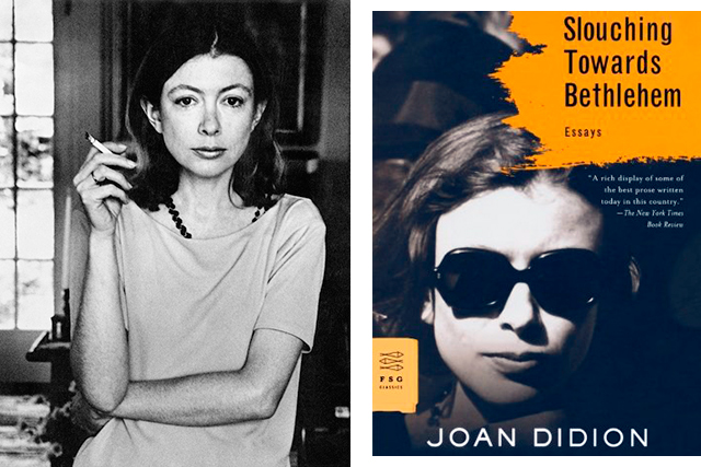 "Reading: ""I've been reading 'Slouching Towards Bethlehem' (again) by Joan Didion. I tend to go back to things I feel like I need to re-read but I also go very in and out of reading. If I'm in reading mode I'm reading two at once, it's all or nothing."""