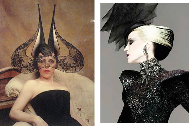 Isabella Blow (left) and Daphne Guinness (right)l