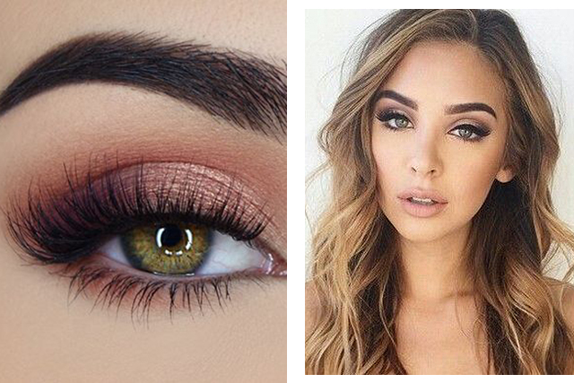 Bridal beauty: all about those lashes. Images: Pinterest/Too Faced Cosmetics, Pinterest/Kat
