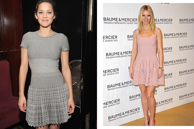 Marion Cotillard and Gwyneth Paltrow wearing Alaïa (images: Getty)