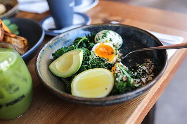 "Porch & Parlour, Bondi:  This cool café in hipster central Bondi Beach puts the gourmet back into healthy eating. Inventive offerings include the green breaky bowl which is stacked with all the good greens (kale, spinach, mint, parsley, avo) while also hitting the protein notes via the perfectly poached egg. And if you're at the Porch for drinks come twilight time the health quotient stays high with a range of biodynamic, organic wines by the glass.<p><a href=""https://www.porchandparlour.com"" style=""font-size: 17px;"">porchandparlour.com</a></p>