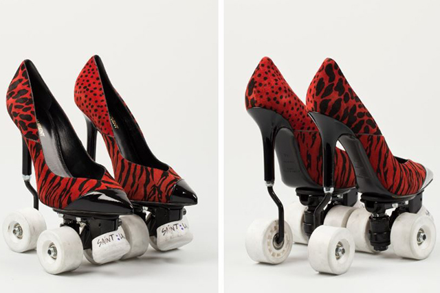 Saint Laurent stiletto roller-skates