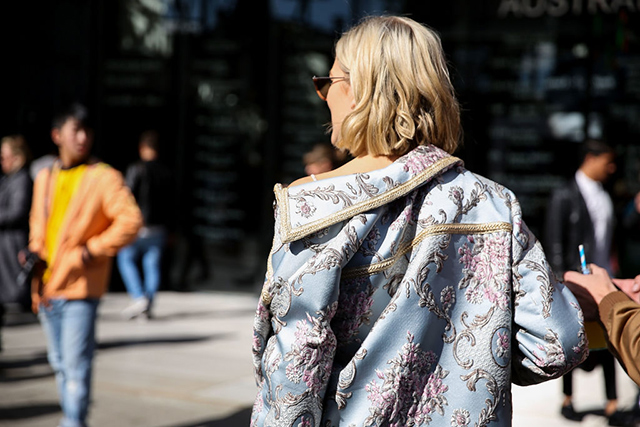 As for the street style, Violet Atkins wearing a We Are Kindred jacket was the standout.