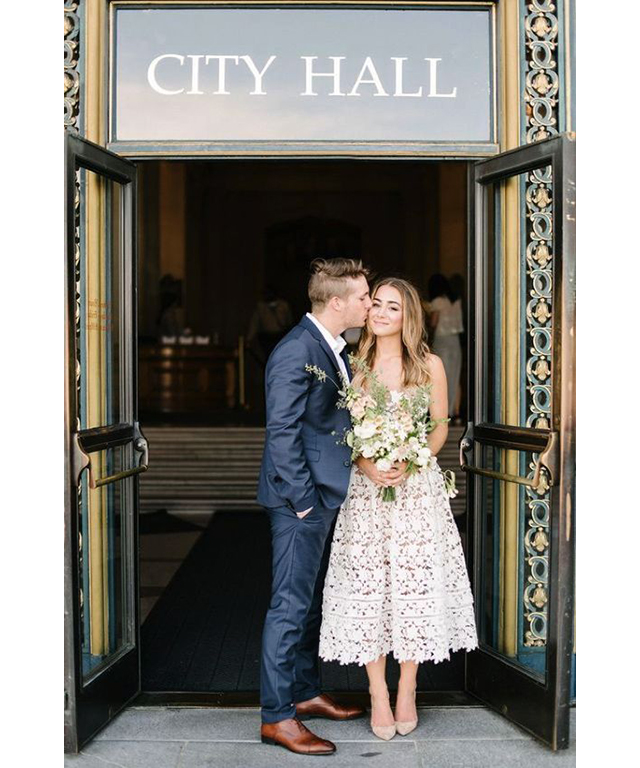 Location: keep it easy with a courthouse ceremony. Image: Pinterest/Wedding planning ideas