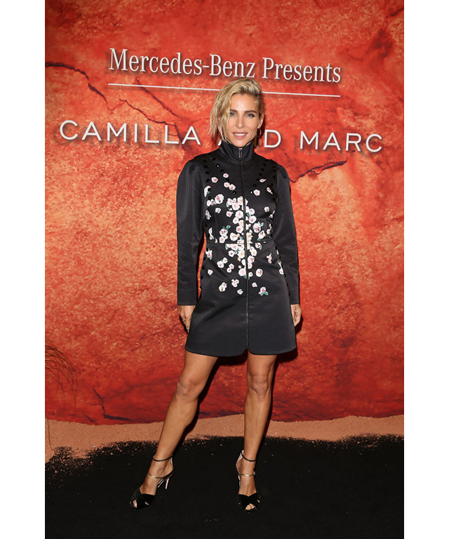 Best celebrity sighting came thanks to the stunning and chic Elsa Pataky (a.k.a. Mrs Chris Hemsworth), who was the celebrity guest at the Camilla and Marc show.