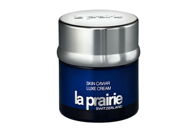 "Day/night cream: La Prairie Luxe face cream. ""It's moisturising, hydrating and is great for improving skin's elasticity."""