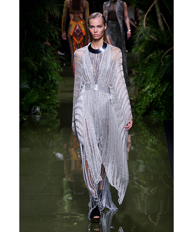 Balmain: high-shine metallics