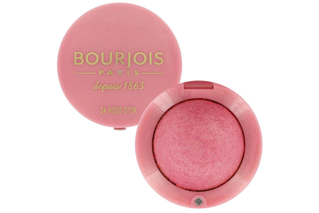 "Bourjois Little Round Blush pot, $20: The original baked blush, six million of these purse-friendly pots are sold worldwide each year.  They're a French girl favourite thanks to the velvety finish, rose scent and nifty built-in brush.<p><a target=""_blank"" href=""http://au.bourjois.com/"">au.bourjois.com</a></p>"
