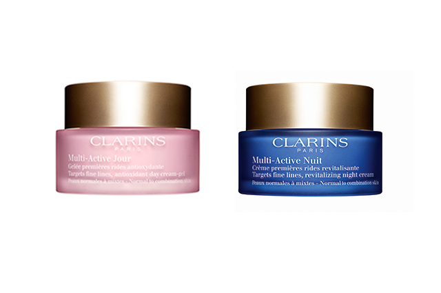 Clarins Multi-Active Day and Night Cream, $62 each: designed for time-poor, stressed out city women in their 30s, Clarins' new Multi-Active offering works just as hard as you do, boosting radiance, reducing those first few wrinkles and targeting dull, sleep-deprived skin. There are versions for all skin types.