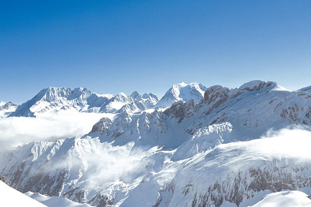 Courchevel: The French Alps are any snow sport or après ski lovers paradise. Snow capped peaks as far as the eye can see during the day and endless fireside potential once the sun goes down.